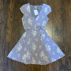 NWT H&M Lavender Floral Dress
